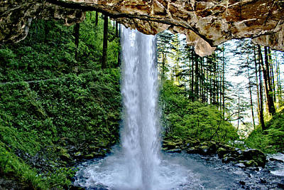 Art Print featuring the photograph Beneath The Falls by Rob Green