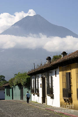 Photograph - Beneath The Volcano Antigua Guatemala by John  Mitchell