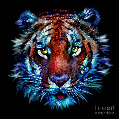 Bengal Tiger Portrait Art Print
