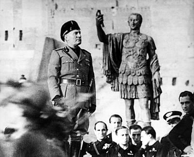 Benito Mussolini, 1943 Art Print by Everett