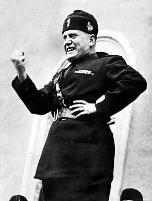 Dictator Photograph - Benito Mussolini, January 31, 1939 by Everett