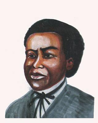 Thomas Jefferson Drawing - Benjamin Banneker by Emmanuel Baliyanga