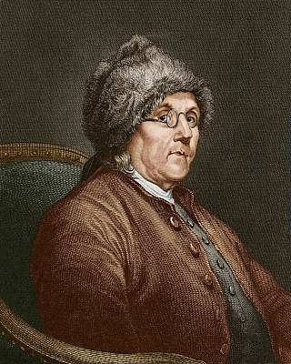 Benjamin Franklin (1706-90) Art Print by Sheila Terry
