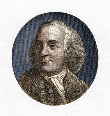 Glass Etching Photograph - Benjamin Franklin, American Polymath by New York Public Library