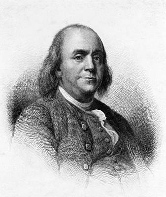 Art Print featuring the photograph Benjamin Franklin by International  Images