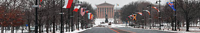 Benjamin Franklin Parkway Digital Art - Benjamin Franklin Parkway Panorama by Bill Cannon