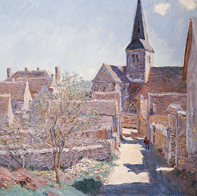 Towns Painting - Bennecourt by Claude Monet