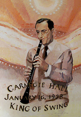 Painting - Benny Goodman Portrait by Suzanne Cerny