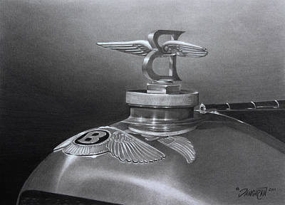 Drawing - Bentley Corsica Coupe  by Tim Dangaran