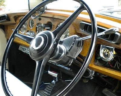 Photograph - Bentley Dashboard And Steering Wheel by Renate Nadi Wesley