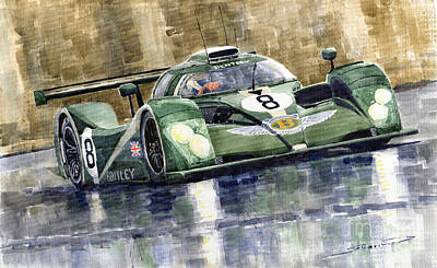 Bentley Prototype Exp Speed 8 Le Mans Racer Car 2001 Art Print by Yuriy  Shevchuk