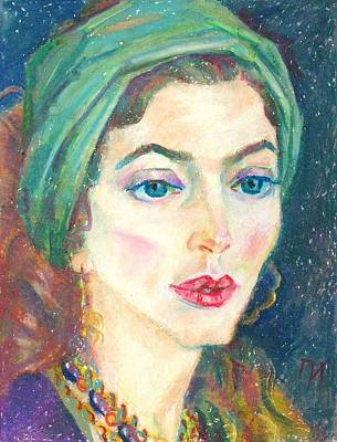 Pastel Painting - Berenice Eskand by Leonid Petrushin