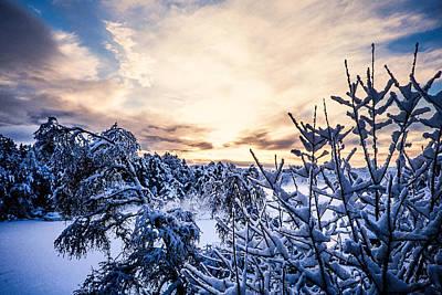 Lightscapes Photograph - Bergen Winter by Hakon Soreide