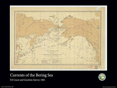 Bering Sea Currents 1881 Art Print by Adelaide Images