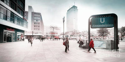 Photograph - Berlin Alexander Square by Frank Waechter