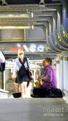 Saxophon Photograph - Berlin Stationblues by Tanja Cathrin  Liebig