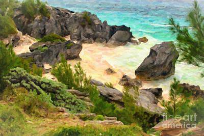 Art Print featuring the photograph Bermuda Hidden Beach by Verena Matthew