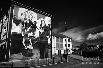 Bernadette At The Battle Of The Bogside Mural Derry Art Print