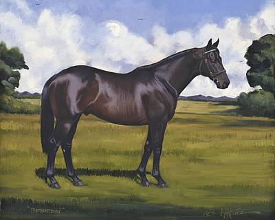 Zenyatta Painting - Bernardini by Nick Martinez