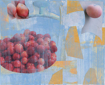 Berries In Blue Art Print by Alexandra Sheldon