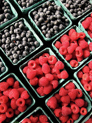 Berry Baskets Art Print