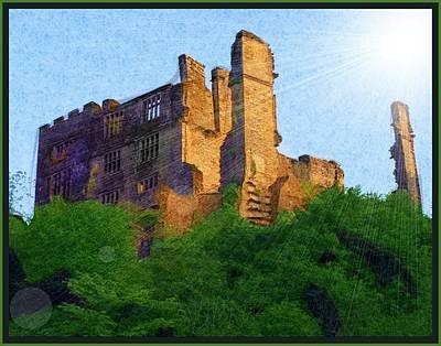 Devon Mixed Media - Berry Pomeroy Castle Ruins by Gra Howard