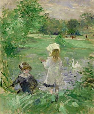Inv Painting - Beside A Lake by Berthe Morisot