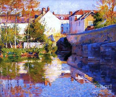 Beside The River - Grez Art Print by Pg Reproductions