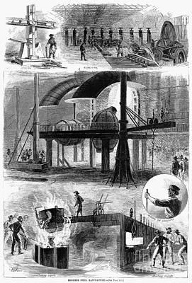 Bessemer Steel, 1876 Art Print