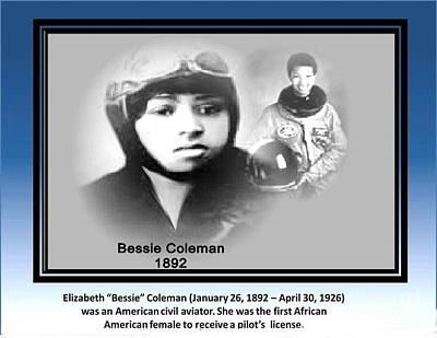 Painting - Bessie Coleman by Belinda Threeths