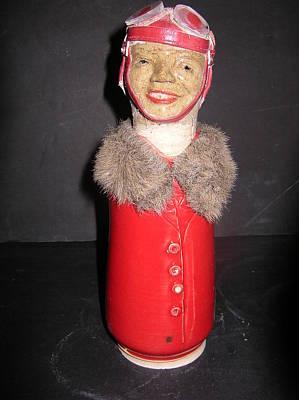 David Mack Sculpture - Bessie Coleman by David Mack