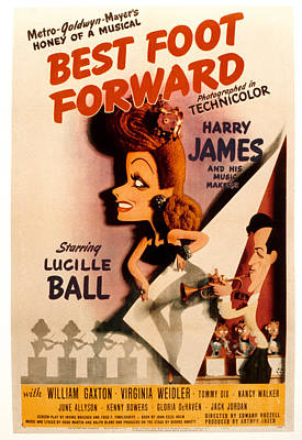 Harry James Photograph - Best Foot Forward, Lucille Ball, Harry by Everett