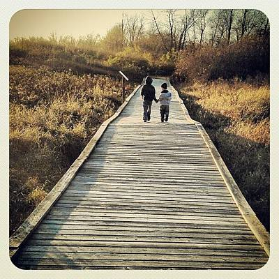 Trail Wall Art - Photograph - #bestfriends #brothers #pictureoftheday by Bryan P