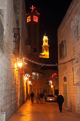 Bethlehem At Night Original by Munir Alawi