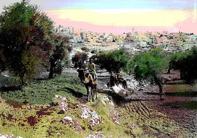 Cairo Mixed Media - Bethlehem by Charles Shoup
