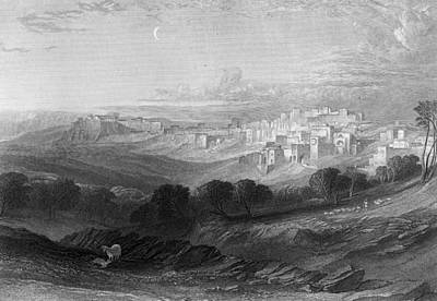 Photograph - Bethlehem Engraving By William Miller by Munir Alawi