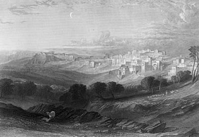 Photograph - Bethlehem Engraving By William Miller by Munir Alawi