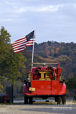 Bethlehem Fire Truck - D008199 Art Print by Daniel Dempster