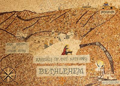 Bethlehem Mosaic Map Original by Munir Alawi