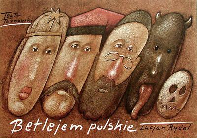 Mixed Media - Betlejem Polskie by Mieczyslaw Gorowski