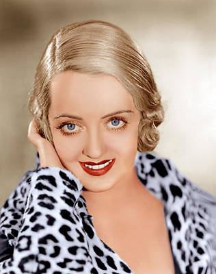 1930s Hairstyles Photograph - Bette Davis, Ca. 1932 by Everett