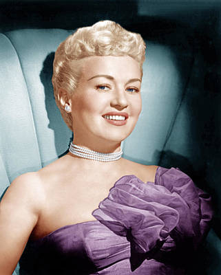 1950s Portraits Photograph - Betty Grable, Ca. 1950s by Everett