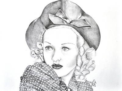 Actrice Drawing - Betty Grable by Laura Mota