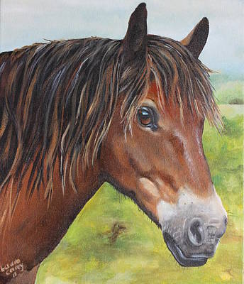 Mustang Painting - Betty Joe by Laura Carey