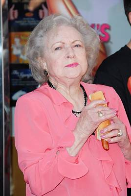 Betty White At A Public Appearance Print by Everett