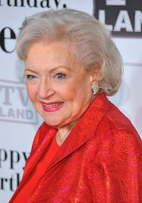 Betty White At Arrivals For Betty Art Print by Everett