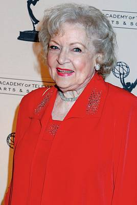 Academy Of Television Arts Photograph - Betty White At Arrivals For The Academy by Everett