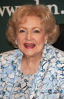 Bestofredcarpet Photograph - Betty White At In-store Appearance by Everett