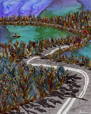 Between Lakes Art Print by Marina Gershman