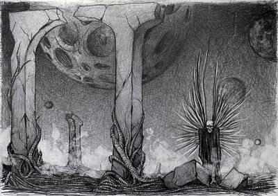 Drawing - Between  by Mariusz Zawadzki